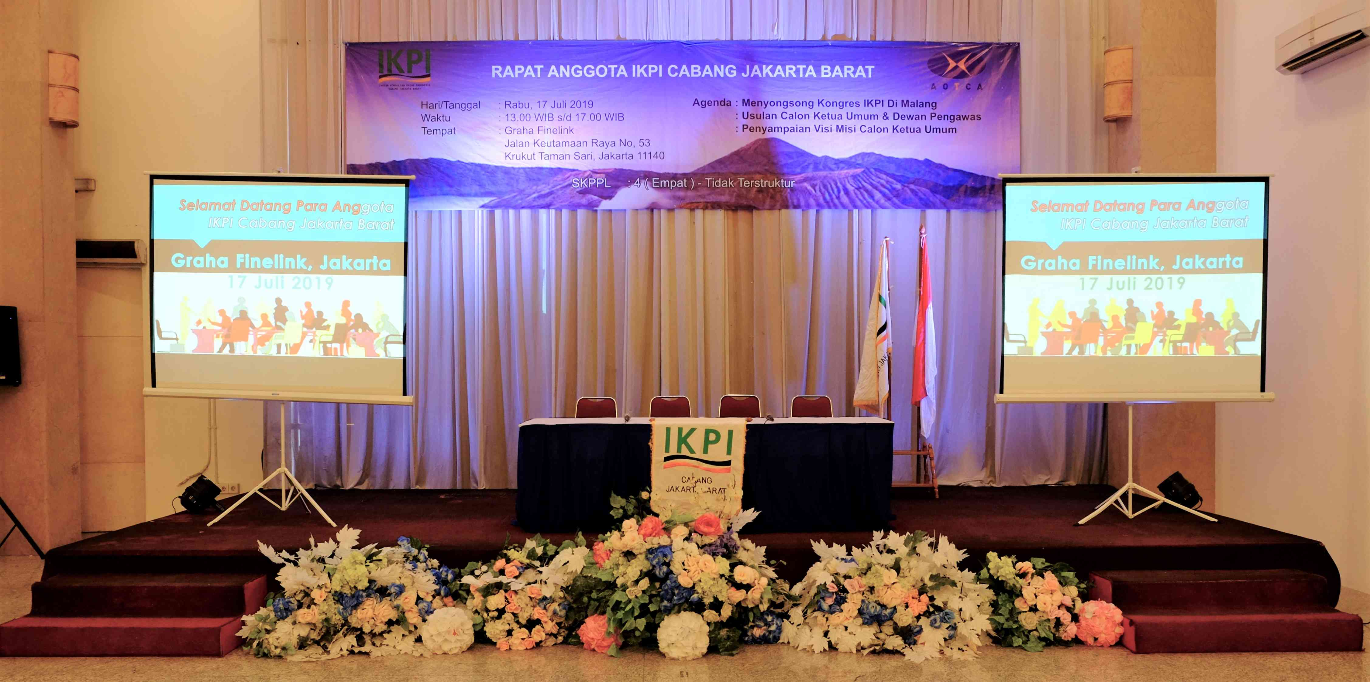 Rapat Anggota IKPI Cab. Jakarta Barat Dalam Rangka Menyongsong Kongres IKPI XI di Malang