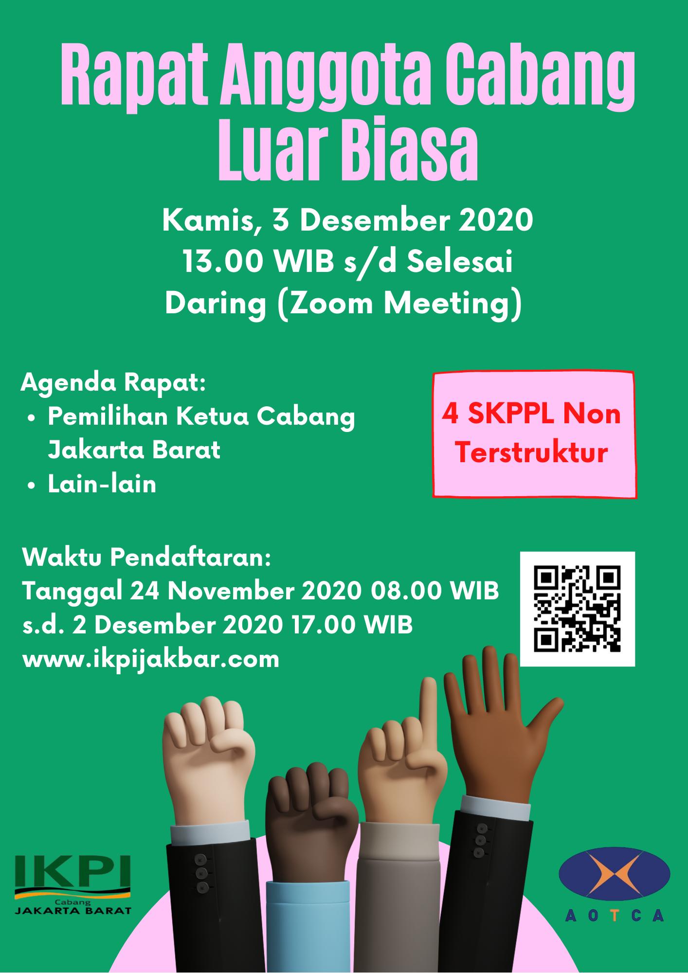 Rapat Anggota Cabang Luar Biasa IKPI Cab. Jakarta Barat