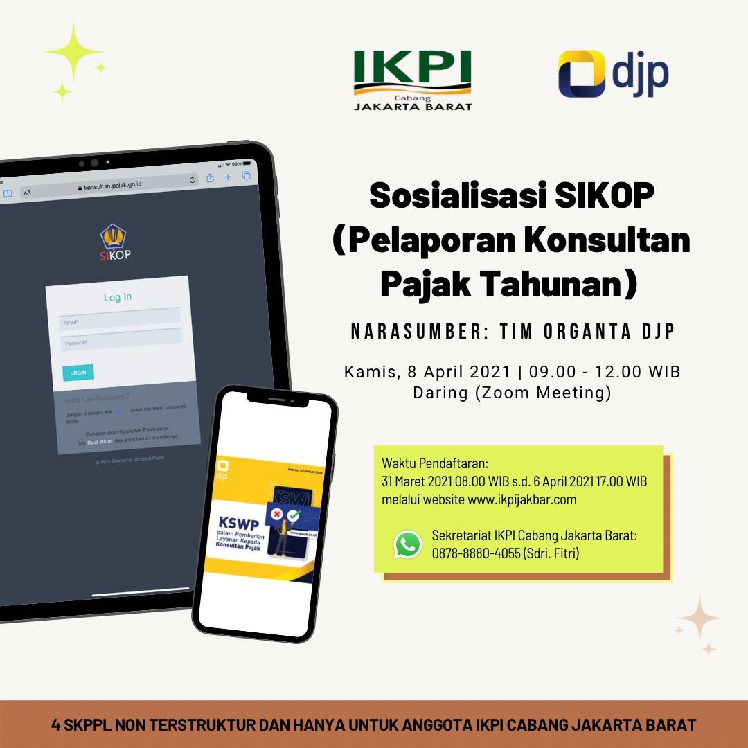 Sosialisasi Pengisian Laporan Tahunan Konsultan Pajak (SIKOP)